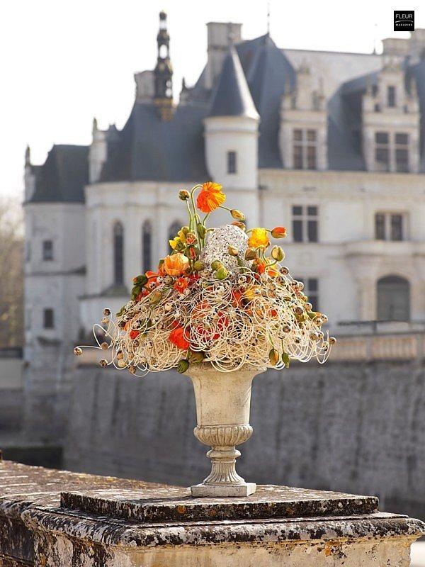 castle of Chenonceau bouquets de Chenonceau Jean-François Boucher Fleur creatif Meilleur ouvrier de France floral scenographer