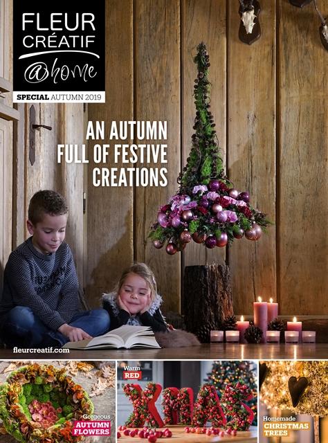 fleur creatif @ home special autumn winter 2019 CHRISTMAS TREES autumn flowers fleurcreatif.com