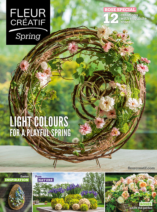 Fleur Créatif Spring 2020 edition 1 rose special easter inspiration nature garden flowers design floral art ideas florist colour Hellebore Floos Yuko Takagi EMC