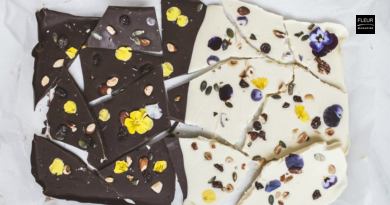 RECIPE | Chocolate chunks with pansies