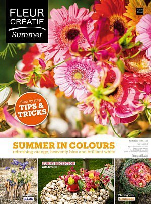 Fleur Créatif summer 2020 new issue digital ediiton read magazine flowers floral art floral arrangements summer in colours tips & tricks step by step instructions diy do it yourself diy flowers lovers of floral art florist sunnu reception with flowers summer grasses summer flowers fleuramour floral design ideas inspiration