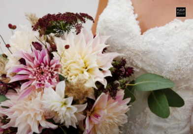 hand-tied bridal bouquet wedding bouquet diy do it yourself instruction dahlias dahlia wedding floristry florist designs holland dahlia event inspiration floral art floral artist florist flowers lover professionals floral news magazine fleur creatif