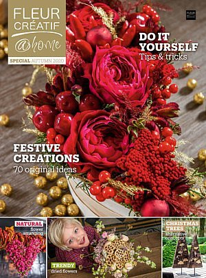Fleur Creatif special autume fleur creatif @ home winter autumn christmas 2020 flowers flower arranging floral art floral design floral inspiration flower inspiration tips & tricks do it yourself festive flower decratins original ideas trendy dried flowers christmas trees in alternative concepts natural flower arranging magazine