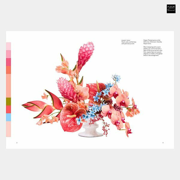 New book in the Fleur bookshop: Flower Color Theory | Fleur Creatif Magazine | Colour theory is the inspiration for floral creations