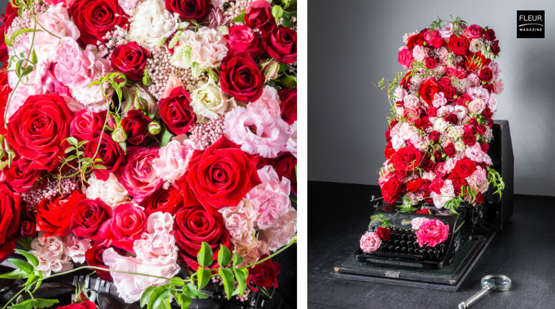 Valentine's Day | Fleur Créatif Magazine - flower magazine with wonderful floral designs made by our Fleur Créatif florists. In the new Fleur Créatif Spring issue: a Valentine's Day creation by Belgian florist Moniek Vanden Berghe. Try this DIY yourself with the step-by-step instructions!