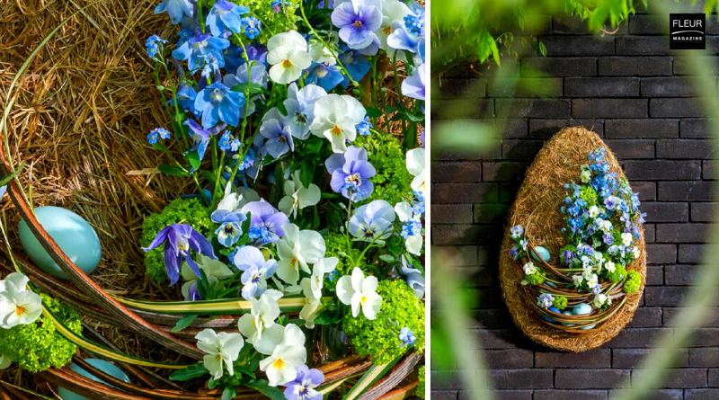 Fleur Créatif@Home Special Springitme: Flowery Easter Egg by Belgian floral designer Moniek Vanden Berghe. Try this floral DIY. The perfect Easter decoration!