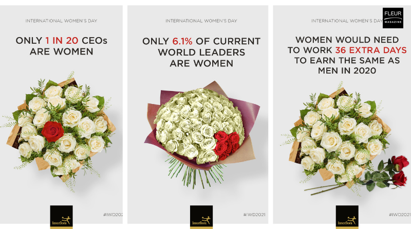Fleur Creatif Magazine: Interflora highlights inequality with new flower bouquets.