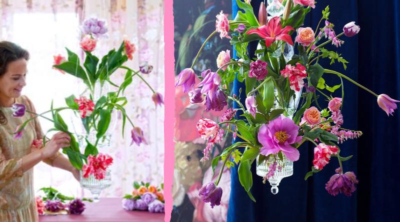 Fleur Créatif floral magazine: DIY: Special Flower Chandelier