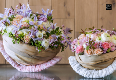 Fleur Créatif Magazine: Learn how to make these cute flower baskets yourself.