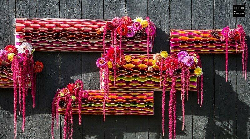 Fleur Creatif Magazine: Paper cylinders full of flowers DIY