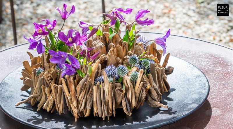 Fleur Creatif Magazine: Trendy Summer DIY with Clematis made by floral designer Geert Pattyn.