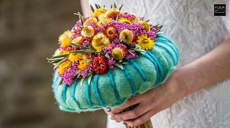 Fleur Creatif Magazine: Competitions at Fleur Floral Fashion: Bridal bouquet and haute couture dress